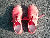 Red pair of shoes