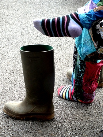 foot and wellie
