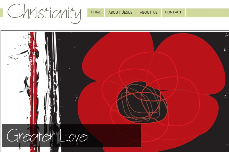 Greater love Christianity web