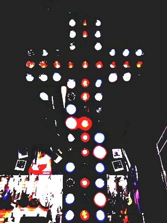 cross of lights