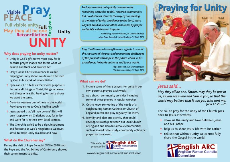 Praying for Unity ARC leaflet